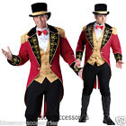 C906 Ringmaster Elite Mens Circus Lion Tamer Ring Master Halloween Adult Costume