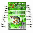 10 WIRE TRACE LEADER Stainless Steel Coated Pike Sea Coarse Fishing Lure Spinner