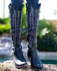 """L 601-2 Old Gringo Women's Mayra 18"""" Boots Black"""