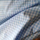 """Blue And White Gingham Fabric  Per Metre 1/4"""" squares"""