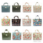 Rose Floral Oil Cloth Tote Box Bag Day Zip Shopper Bag + 17 color pattern