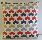 TRENDY 60S STYLE GREY ORANGE SLATE GREY OFF WHITE BRAND NEW CUSHION COVERS