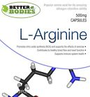 L-Arginine HCL Nitric Oxide Muscle Pump Growth Capsules Better Bodies Made In UK