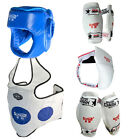 Teakwondo Kickboxing Martial Art Headgear Body Groin Cup Protect Guard 5Pcs Set