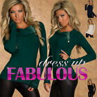 NEW SEXY 10-12 WOMEN'S JUMPER TOP SWEATER COWL NECK WINTER WEAR HOTTEST CLOTHING