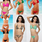 HOT Sexy Women Halter Swimsuit Beachwear Push Up Bikini Swimwear Bathing Suit