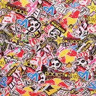 STICKERBOMB AIR FREE/ BUBBLE FREE VINYL WRAP MONSTER STICKER BOMB CAR BIKE