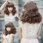New Fashion Curly Wave Short Hair Full Wigs Women/Olds Wig Lace Weave Wig Cap