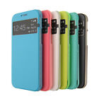 New Transparent View Style PU Leather Hard Case For HTC One 2 M8 6 Color