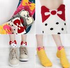 FD118 Fashion Women Girl Korean Cute Sweet Bow Candy Kitty Color Socks ~1 Pair~