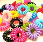 FD185 Women Girl Candy Elastic Rubber Hair Ties Band Rope Ponytail Holder ~5PCs~