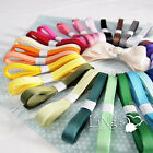50yards 9mm 3/8 inch Sheer Grosgrain Ribbon Wedding Party Favour Decor DIY Craft