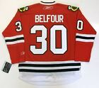 ED BELFOUR CHICAGO BLACKHAWKS REEBOK PREMIER HOME JERSEY NEW WITH TAGS