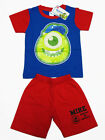 Monsters University Mike Cotton T-Shirt+Shorts #147-10 Red,Blue Size 4-8 age 2-6