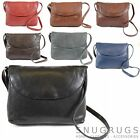Ladies Soft Premium Leather Shoulder / Cross Body Bag (7 Colours Available)