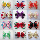 "Baby/Girl Handmade Large 4"" Party Hair Bow Clip bobble Accessories MANY COLOURS"