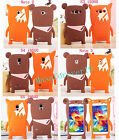New Soft Silicone Cute Fox Bear Case for Samsung Galaxy S4 i9500 S5 Note 2 3