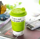 I'm not a paper cup Thermal Insulated Coffee Ceramic Travel Eco Cup Mug Green