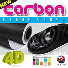 4D Carbon Fibre Vinyl Wrap Film Air / Bubble Free - Self Adhesive