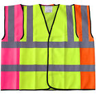 Coloured Hi Vis Viz Vest High Visibility Safety Reflective Waistcoat Work Wear