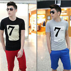 Hot Sale Summer Men's Short-Sleeved T-shirt Slim 7 Digital Printing Shorts C