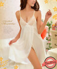Sexy Chemise Nightie Nightwear Lingerie Nightdress Sleepwear Dress Ivory/Black S