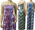 Summer Printed Maxi Dress UK Size 10 - 26 in Various Length (RAD-OOO'S)