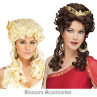 W220 Ladies Aphrodite Athenian Greek Goddess Roman Party Long Curly Costume Wig