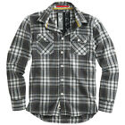 SURPLUS CLASSIC LUMBERJACK CHECK FLANNEL MENS WORK SHIRT LONG SLEEVE COTTON GRAY