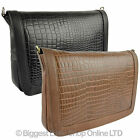 NEW Ladies LEATHER Clutch/Cross Body BAG by GiGi OTHELLO Collection Classic Croc