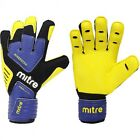 MITRE BRZ ACADEMY GOALKEEPER GLOVES  - YELLOW/BLUE/BLACK - 4 SIZES AVAILBLE