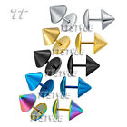 TTstyle 10mm Surgical Steel Tapered Fake Ear Plug Earrings 5 Colour Available