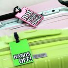 Name Tag - Pink Green / Travel ID of Luggage Carrier Bag Identification Tag