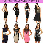 Women's New Size 8 10 12 14 Elegant Going Out Bodycon Ladies Dress Skirt Lace