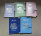 LEATHER UK PASSPORT TRAVEL HOLDER COVER LILAC PALE PINK MINT GREEN BLUE