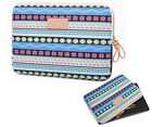 "Canvas Bohemian 10""12""13""14""15"" Laptop Sleeve Case Netbook Cover Bag Carry Pouch"