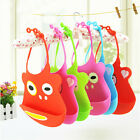 Lovely New Baby Kids Feeding Soft Plastic Bib food catcher Easy Wipe Silicon Bib