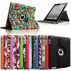 Rotating Leather Magnetic Case Stand Cover for iPad 4 Retina iPad 3&2 Sleep/Wake
