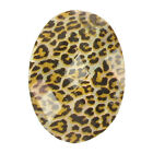 6 x Resin Leopard Animal Print Cabochon Flat Back Faceted Bead, CLEARANCE