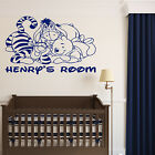 WINNIE TIGGER EEYORE WALL STICKER NURSERY ROOM TRANSFER PERSONALISED DISNEY BABY