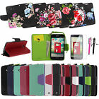 LG Optimus Exceed 2 L70 D325 MS323 PU Leather Flip Stand Wallet Pouch Case Cover