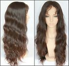 "Brazilian Human Hair Lace wigs 100% Remy Hair Natural wavy 8""-20"" Hot"