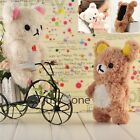 For iPhone4/4S/iPod Touch 4 Cute Fleecy 3D Bear Doll Toy Case Cover Plush