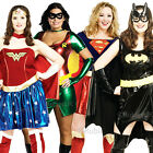 Superhero Plus Size UK 16-20 Ladies Fancy Dress Comic Character Womens Costume
