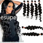"100%Virgin BRAZILIAN Deep Wave Human Hair Extension unprocessed 10""-30"" 6A black"