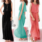 WOMENS SEXY CHIFFON COCKTAIL BRIDESMAID PARTY EVENING MAXI DRESS AU SELLER DR051