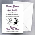 Personalised Funny Wedding Save The Date Fridge Magnets Invites 10 Colours RG2