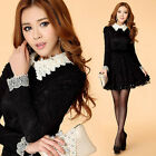 Women's Lace Long Sleeve Embroidered Organza Party Sheath Evening Cocktail Dress