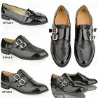 WOMENS LADIES SCHOOL WORK CASUAL TASSEL CHAIN DIAMONTE FLAT LOAFERS SHOES SIZE