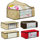 Fashion Large Zip Underbed Storage Duvet Clothes Bedding Pillows Bag  Boxes Bags